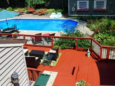 Photo for Private Guesthouse with Garage, Pool, Deck and Hot Tub in Fayetteville/Syracuse