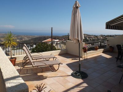 Photo for Villa in Pissouri Village with Panoramic Views to the Sea and Troodos Mountains