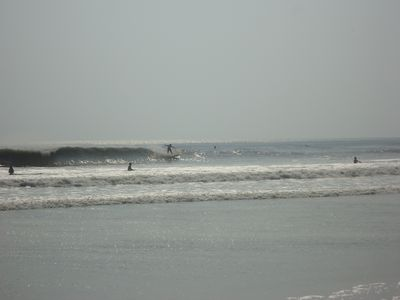 Surf's up at nearby beach!