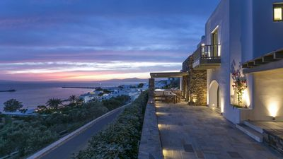 Photo for Beautiful 7 Bedroom Themis Villa, Steps from Mykonos Town.