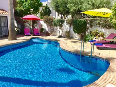 Photo for Lazybones 3 bed Villa and separate 2 bed apartment. Private pool.  Sleeps 6+4