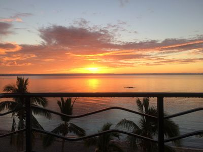 Photo for ONLY TRUE BEACH FRONT Condo in REAL La Paz!  Full Sunset View, 2 Pools, Pool Bar