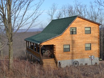 Photo for Amish-built 6 bedroom Chalet In Ski/Rafting Area  50-Mile View