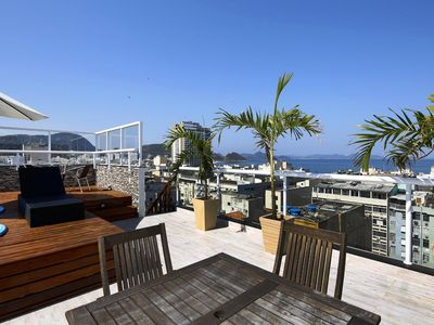 Photo for Wonderful penthouse with terrace, BBQ and private little pool in Copacabana