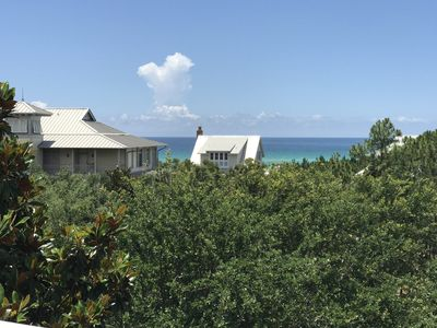 Photo for Beach Hat, 30A Cottages, Reduced Spring Rates, Gulf View, Steps to Beach and WaterColor Town Center!