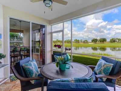 Photo for Main level living overlooking 3rd fairway & lake at the Colonial Country Club