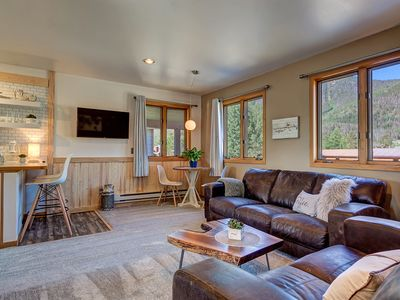 Photo for Frisco Mountain View Flat, close to Vail, Breck & Lake Dillon w/garage.Pets ok:)