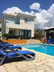 Photo for Luxury Villa. Private Heated Pool, Sea Views free wifi & streamed TV & Internet