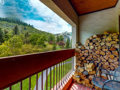 Photo for 4th floor charming escape w/ wood-burning fireplace, shared pool, balcony