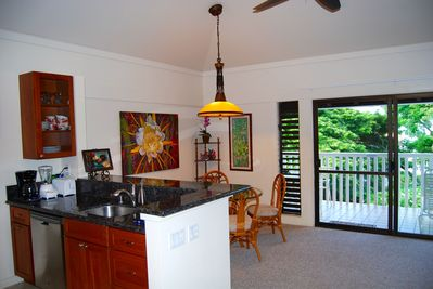 18 feet of vaulted ceiling with Island breezes off the water view Lanai.