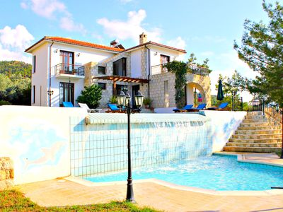 Photo for Amazing 4 Bed Villa in Argaka - Stunning Sea Views - Huge Pool + Child's Pool