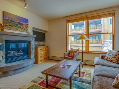 Photo for Cozy ski-in/ski-out condo with a shared pool, hot tub, and easy lift access!