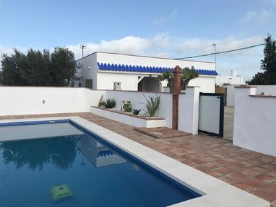 Photo for Apartment with pool in El Palmar 400 meters from the beach