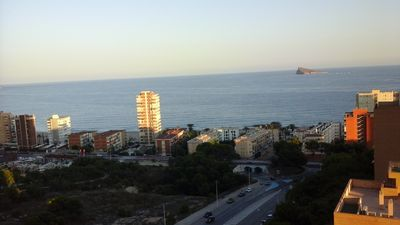Photo for EXCELLENT APARTMENT ON THE BEACH OF PONIENTE, HIGH SATANDING.