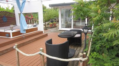 Photo for NEW LISTING!!  BARNA  Summer Lodge with Hot-Tub. Near Golf and Sea
