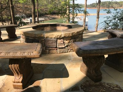 Fire Pit Over Looking Lake - Sunset Views - Wood Supplied.