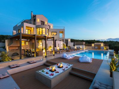 Photo for Luxury villa with gorgeous sea view and private heated pool