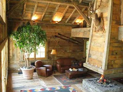Photo for Authentic Rustic Mountain Chalet
