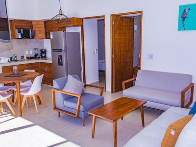 Photo for New, Safe and Beautiful apartment 2 Bedrooms 2 Bathrooms in My Tulum apartments.