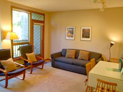 Photo for Snowater Condo #52 Ground Floor Condo Sleeps 4 - Close to Community Amenities!