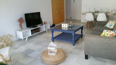 Photo for Bright apartment perfectly located in old town and beach Los Lances