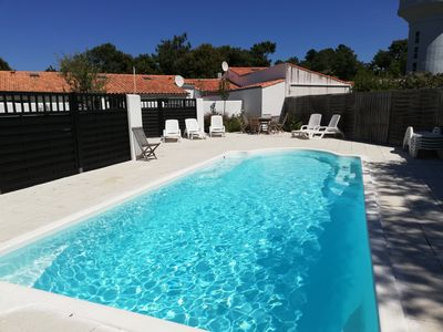 Photo for CLOS DES PINS **, cottage for 4 PEOPLE, 2 BEDROOMS, PRIVATE PATIO, SWIMMING POOL