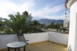 upper patio with views of montgo