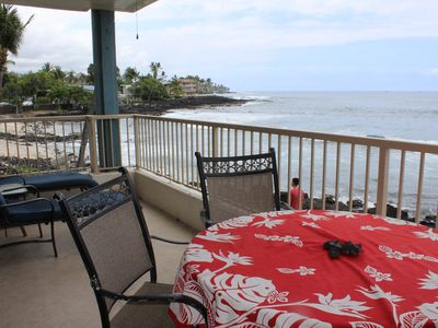 "Photo for Ocean Front 2 Bedroom Condo with ocean view from every room. 2nd floor ""A"" bldg"