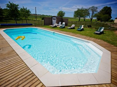 Photo for Domaine de Matounet 2 charming cottage 4 pers Heated pool Chateau de la loire