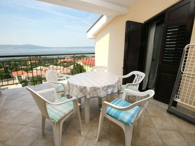 Photo for Two bedroom apartment with terrace and sea view Novi Vinodolski (A-5593-a)