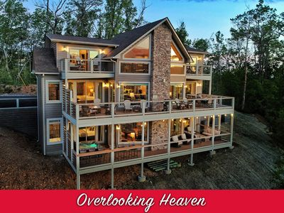 Photo for BRAND NEW Luxury Cabin near DOWNTOWN! 5 Master Suites, Fire Pits, Gaming, VIEWS