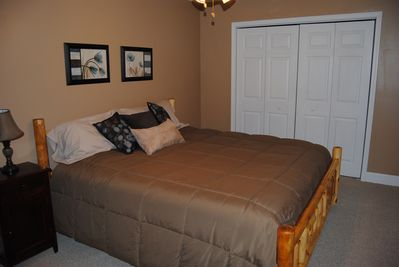 Upstairs King Bedroom with full private bath!