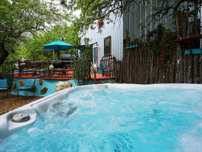 Photo for Charming 2 bedroom cottage with private pool & hot tub in the heart of the Texas