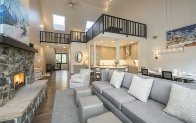 Family Room | Open Floor Plan  Dining and Kitchen | Loft Above
