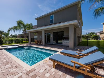 Photo for 10 Min to DISNEY 5 Bedroom LUXURY VILLA w/ pool, spa, FREE BBQ at Encore Resort
