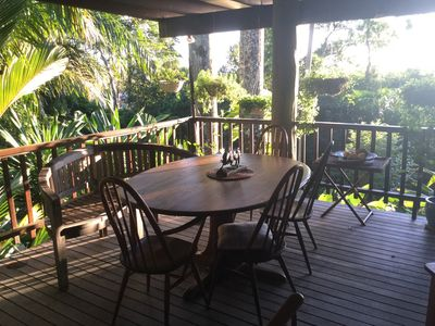 Photo for Idyllic pole home nestled in the cassowary hills over looking Port Douglas