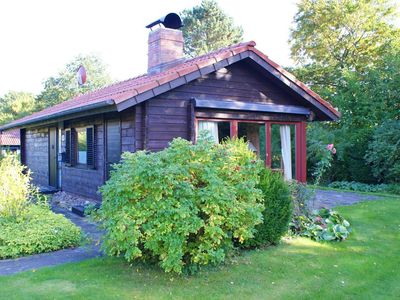 Photo for Log cabin with large terrace in a quiet location - Wi-Fi - log house with Wi-Fi - large terrace with beach chair