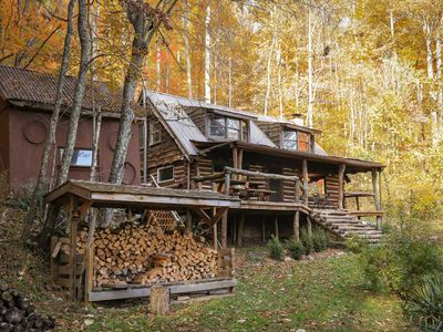 Photo for Quiet Log Cabin w/ Mtn Views - 17 Mi to Asheville!