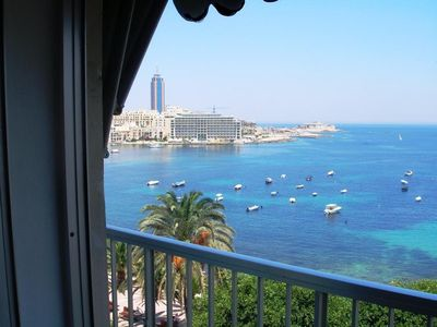 Photo for Holidays in ideally located Sliema - St. Julian's seafront, SEA VIEW apartment