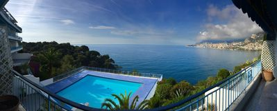 Photo for Direct access to the sea, terrace with a magnificent view of the city of Monaco