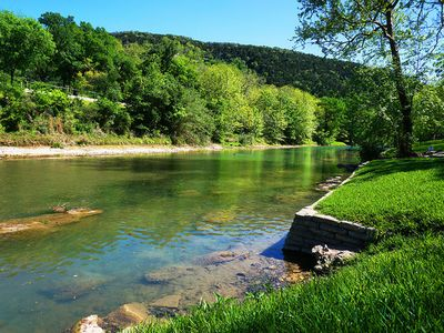 Photo for Getaway to the Guadalupe and stay ON the river! Charming cottage sleeps 6