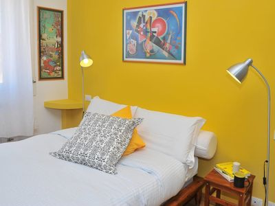 Photo for Bright and colorful flat very close to the Metro