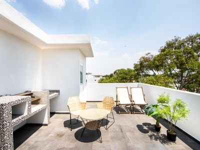 Photo for Deluxe Apartment PH with private rooftop on @Xola Narvarte