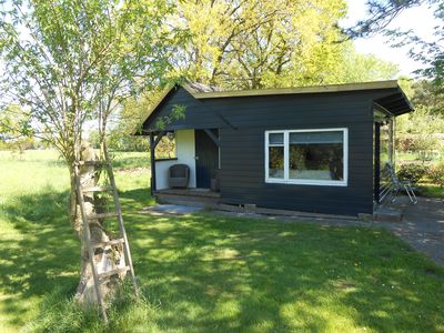 Photo for Rustic log cabin / chalet in a quiet location in the middle of nature in East Friesland