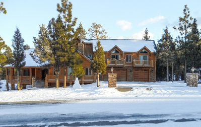 Photo for Winter is here! Luxury Cabin Rental with Jacuzzis, Pool Table, Fireplace