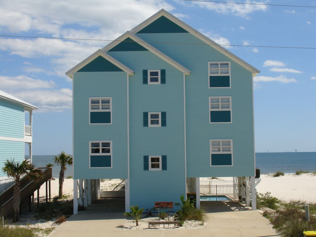 Waves of grace gulf front house