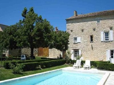 Photo for Stone house with pool and garden, up to 6 people, 3 bedrooms