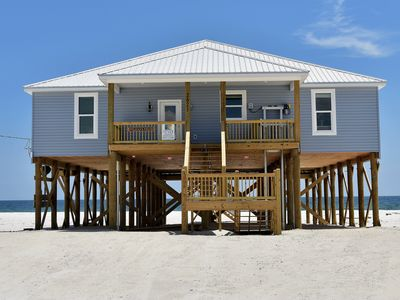 Photo for Pelican's Perch - Brand New Large 4 Bedroom Gulf-front home on Gulf of Mexico beach