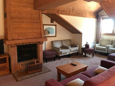 Photo for Ski-in /Ski-out property with warm welcoming fire place.