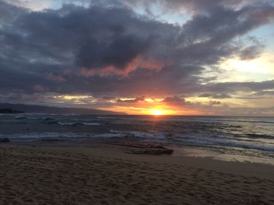 Sunset Point on Oahu's North Shore has amazing  sunsets almost every night
